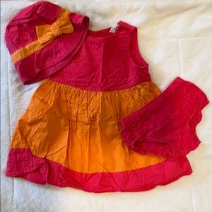 Baby Gap dress bottoms and matching hat